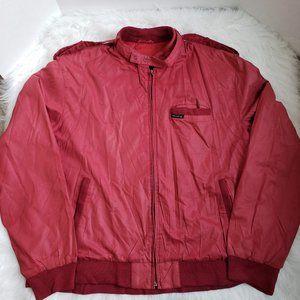 Vintage Members Only Burgundy Jacket Sz 44